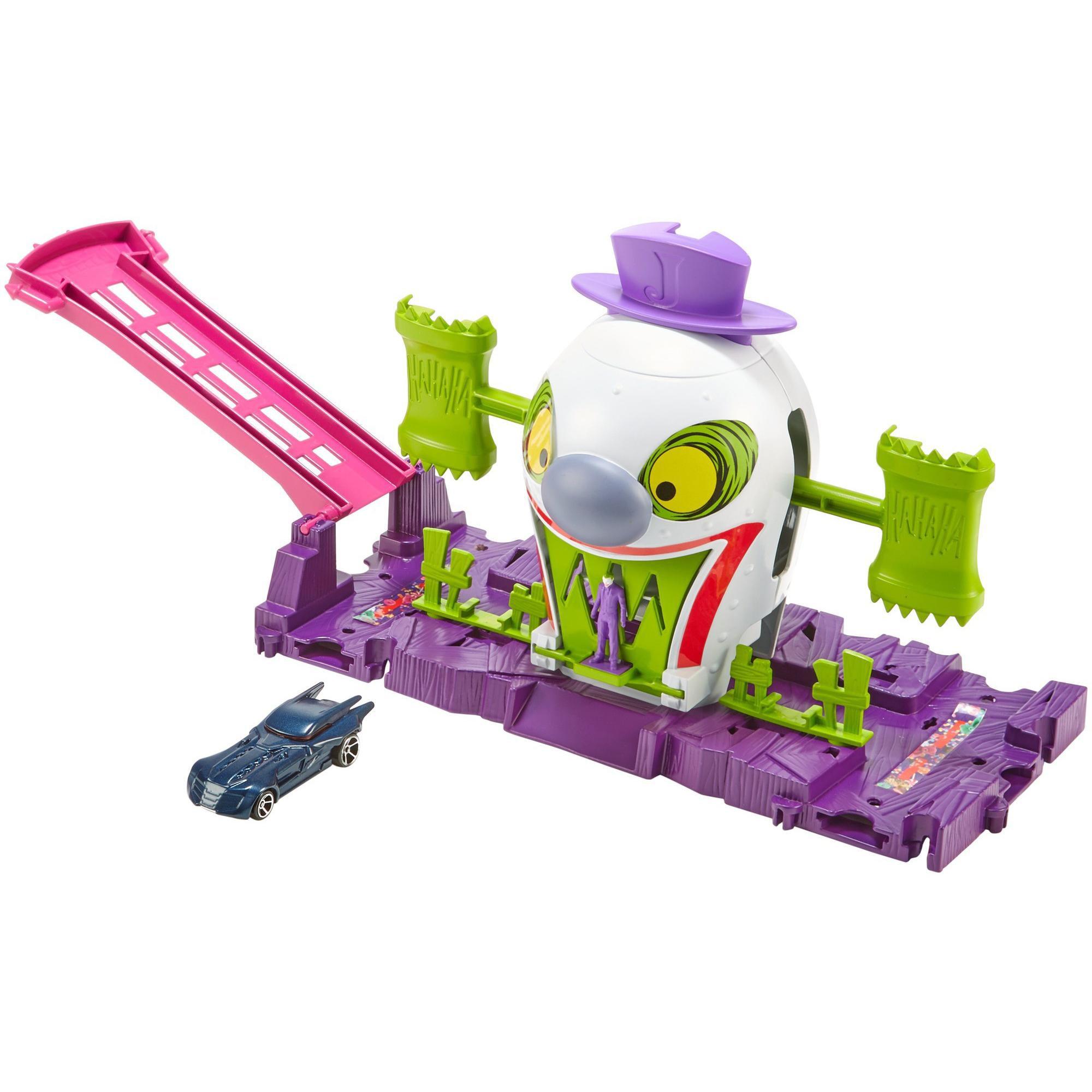 Hot Wheels DC Comics The Joker Funhouse Adventure Playset