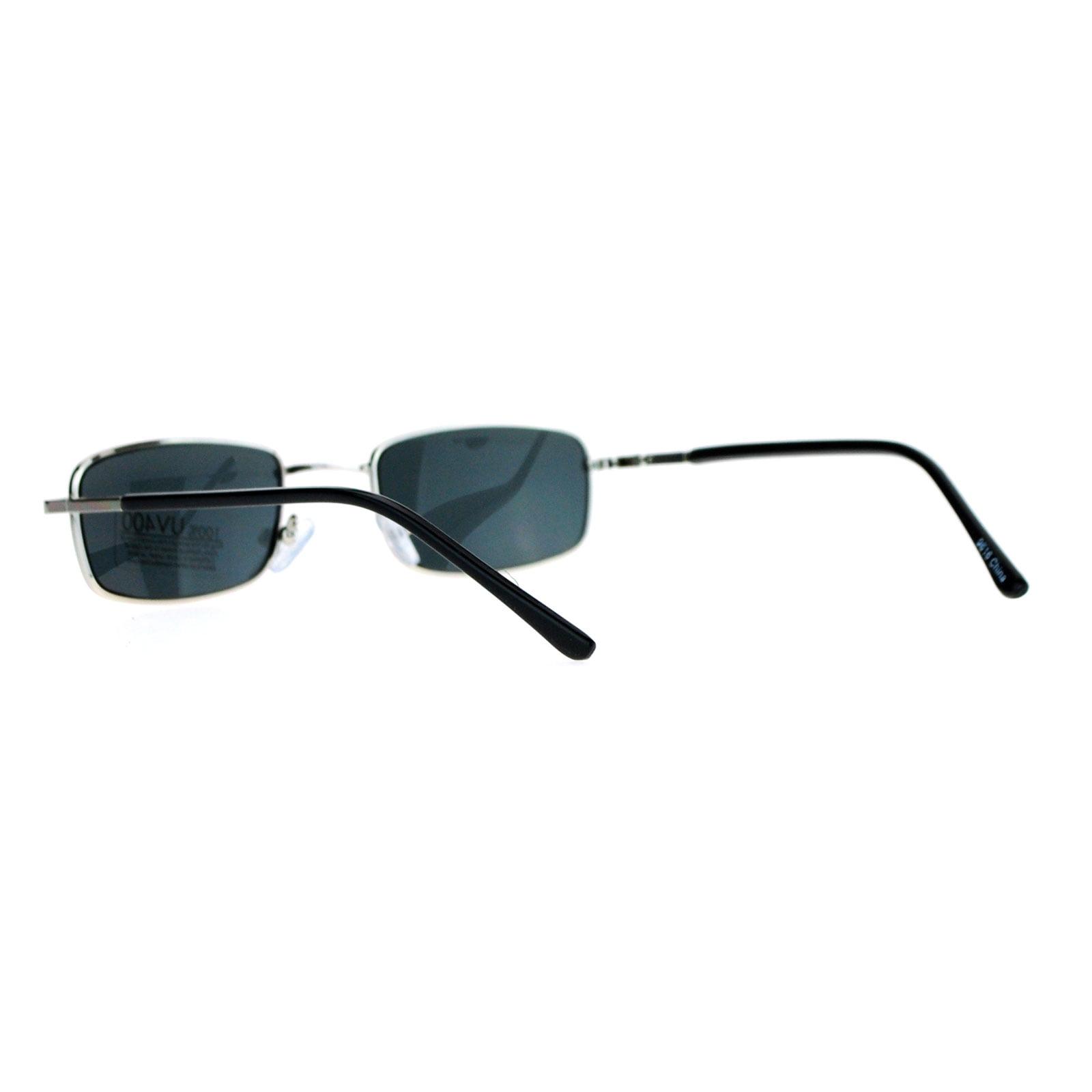 c0c854ca0fa SA106 - SA106 Spring Hinge Mens Snug Narrow Rectangular Metal Rim Sunglasses  Gold - Walmart.com
