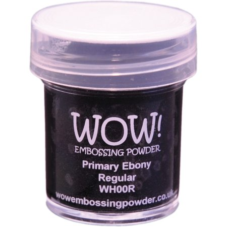 Embossing Powder Heat Tool - WOW! Embossing Powder 15ml-Primary Ebony