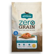Rachael Ray Nutrish Zero Grain Natural Dry Dog Food, Grain Free, Salmon & Sweet Potato Recipe, 12 lbs