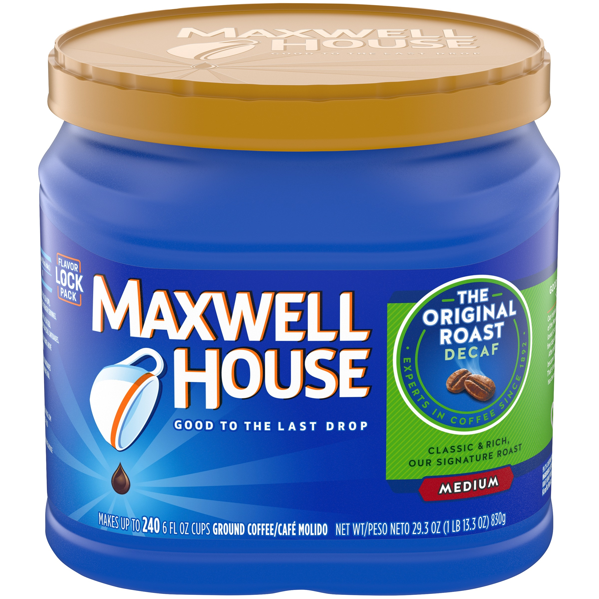 Maxwell House Decaf Original Roast Ground Coffee 29.3 oz. Tub