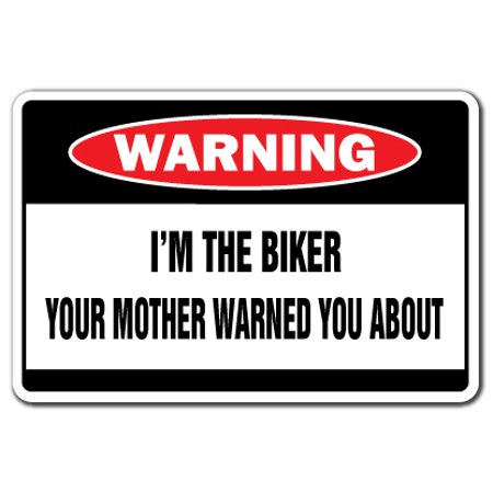 I'M THE BIKER Warning Decal motorcycle Decals hog bike cycle Harley Harley Motorcycle Decals