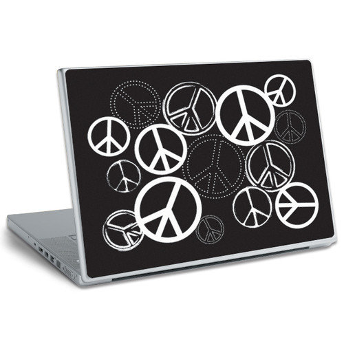 Room Mates Laptop Wear Peace Signs Peel and Stick Laptop Wear