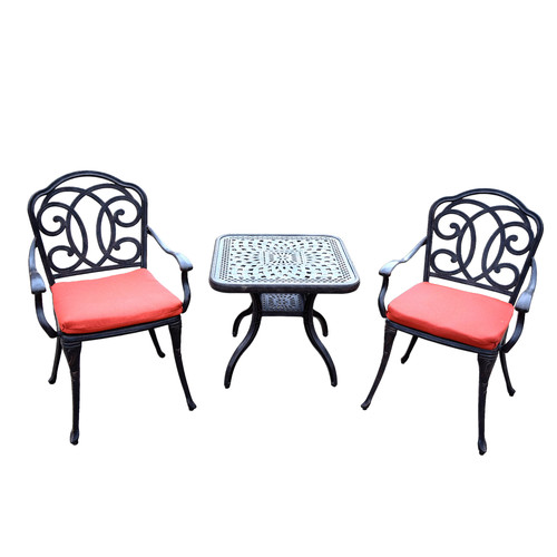 Oakland Living Berkley 3 Piece Dining Room Set with Cushions by Oakland Living Corporation