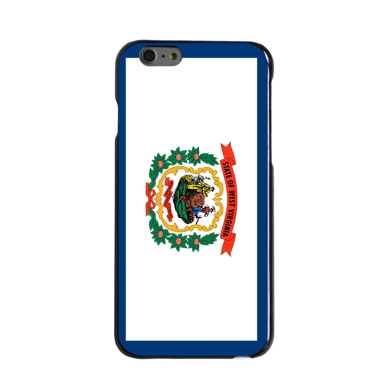 "CUSTOM Black Hard Plastic Snap-On Case for Apple iPhone 6 PLUS / 6S PLUS (5.5"" Screen) - West Virginia State Flag"