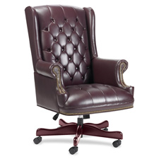 "Exec High-Back Chair, Vinyl, 30""x32""x44""-46"", Burgundy, Sold as 1 Each"