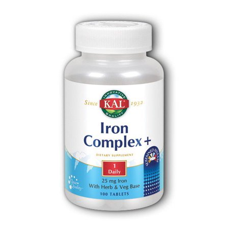 Iron Complex + Timed Release Kal 100 Sustained Release (Best Time To Take Stresstabs With Iron)