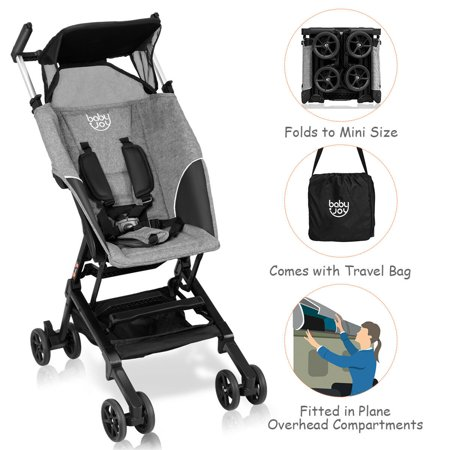 Costway Buggy Portable Pocket Compact Lightweight Stroller Easy Handling Folding (Easy Fold Stroller)
