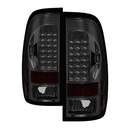 Xtune Ford F150 Styleside 97-03 / F250/350/450/550 99-07 LED Tail Lights Smoke ALT-ON-FF15097-LED-SM