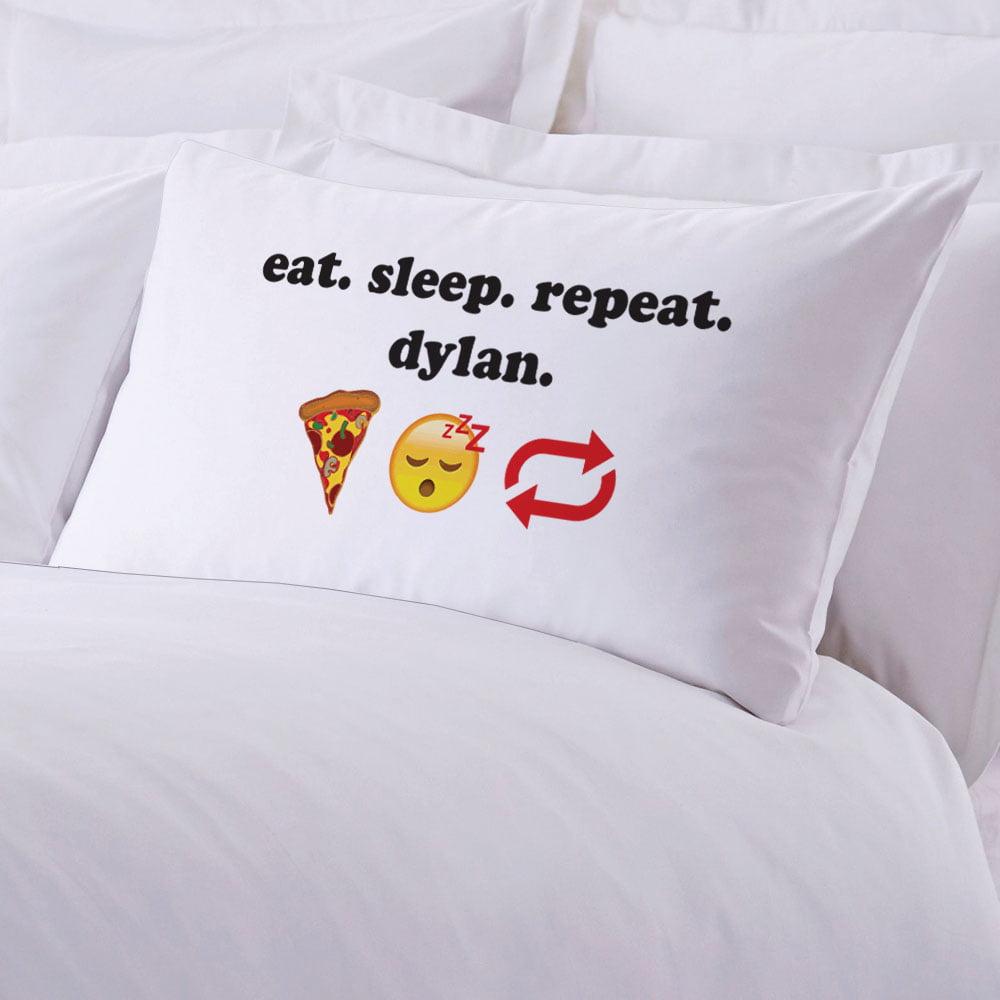 Eat Sleep Repeat Personalized Standard Pillowcase