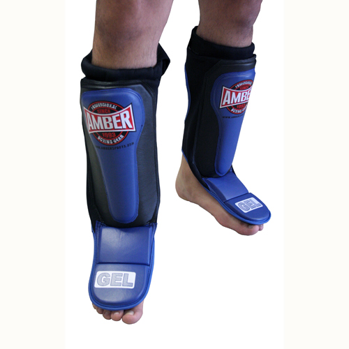 AMBER Fight Gear Gel Shin & Instep Slip In Small