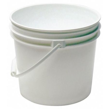 Pail, 1.0 gal., Plastic Handle, White