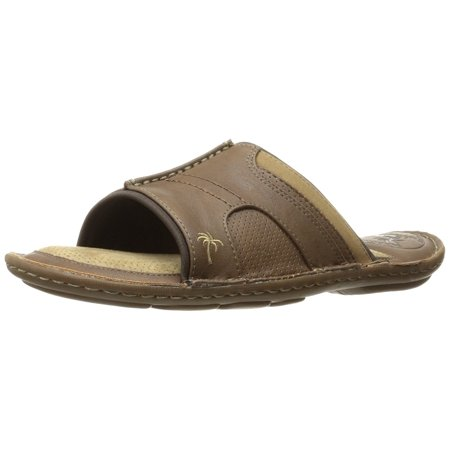 Margaritaville Men's ST Martin Slide Sandal Chestnut (Best Sandals For Achilles Tendonitis)