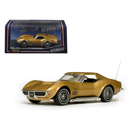 1969 Chevrolet Corvette Coupe Riverside Gold 1/43 Diecast Model Car by - 1973 Corvette Coupe