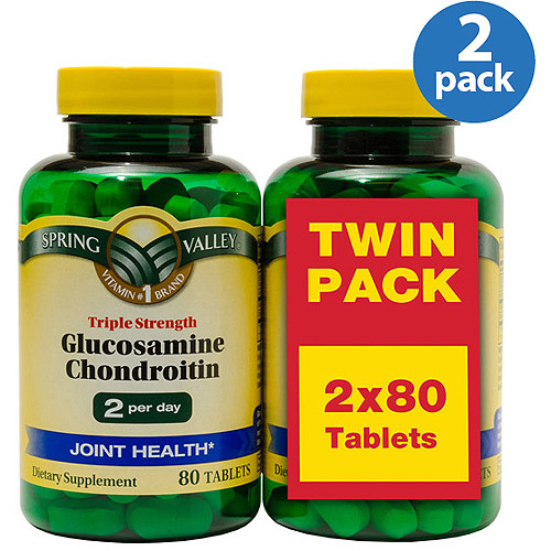Spring Valley Triple Strength Glucosamine Chondroitin Tablets, 80 pc, 2 ct