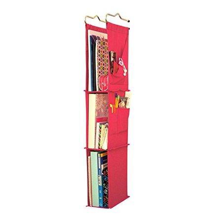 Locker Ladder Locker Organizer Hanging Shelves, Sewn and Assembled in USA (Pink)