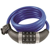 WordLock CL-409-BL Combination Resettable Cable Lock (Blue)
