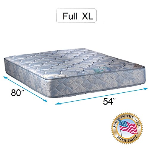 """Chiro Premier Gentle Firm Orthopedic (Blue Color) Full XL size (54""""x80""""x9"""") Mattress Only - Fully Assembled, Good for your back, Superior Quality, Long Lasting and 2 Sided by Dream Solutions USA"""