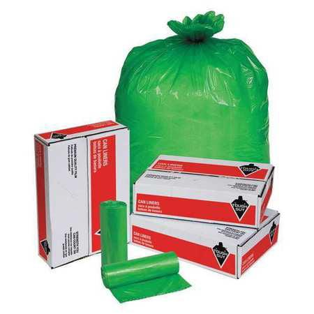 Tough Guy 31DK99 Green Linear Low Density Polyethylene 30 to 35 gal. Trash Bag