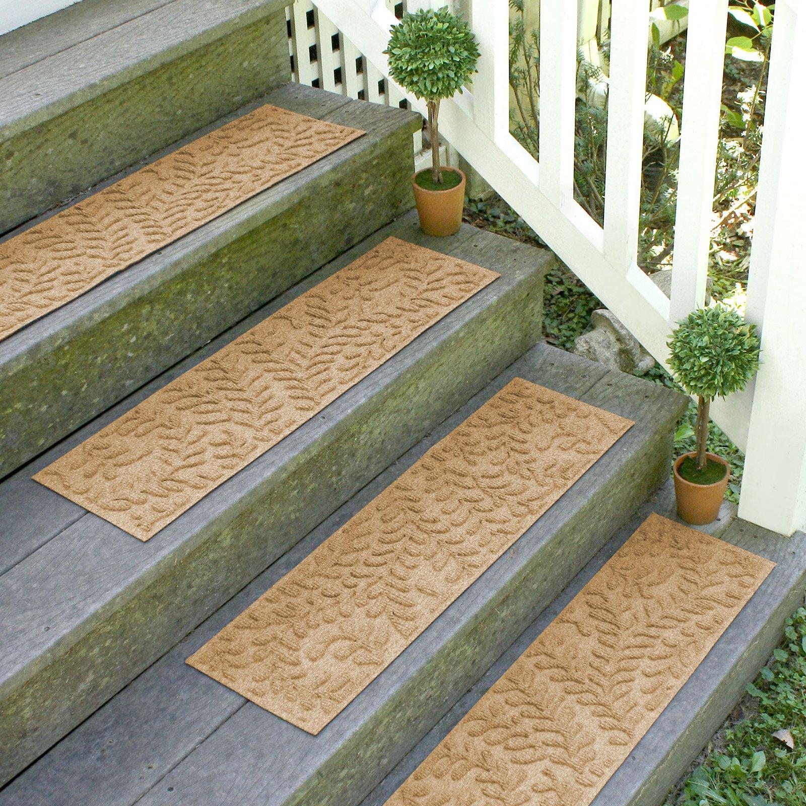Bungalow Flooring Boxwood Indoor/Outdoor Stair Treads - Set of 4