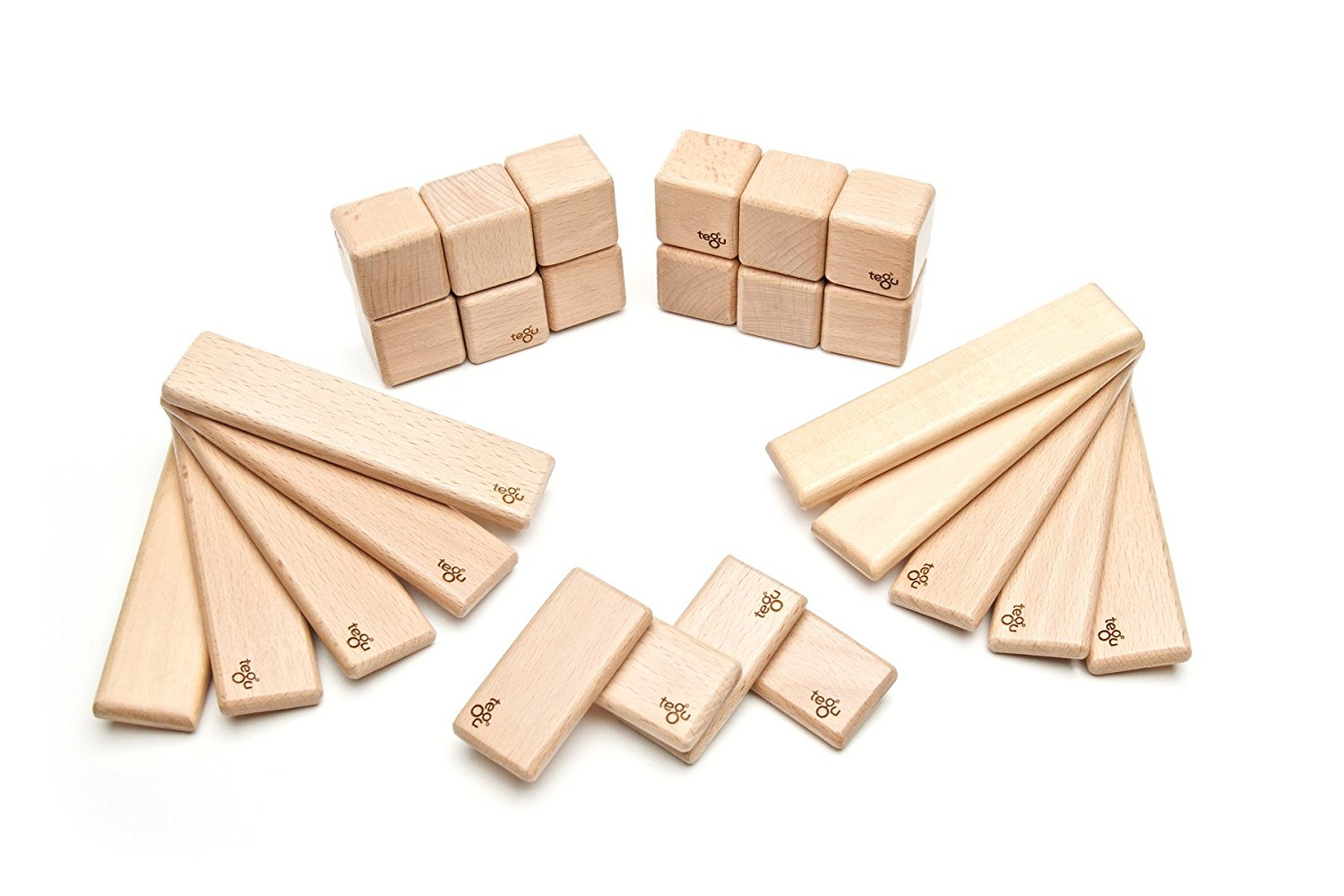 Tegu 26 Piece Discovery Magnetic Wooden Block Set, Natural by