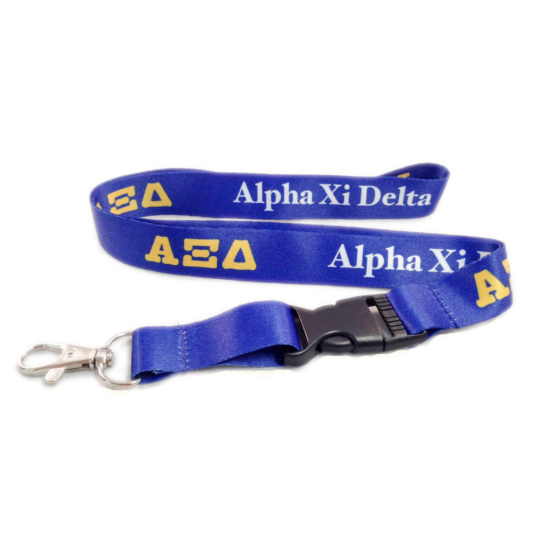 Alpha Xi Delta Lanyard With Buckle - Licensed Vendor
