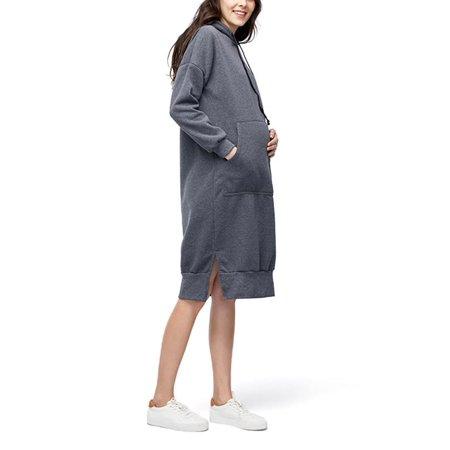Sleeve Maternity Hoodie - Maternity Dress Women Long Sleeve Loose Hoodie Dresses