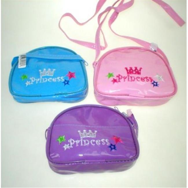 Bulk Buys 4.5 in. Vinyl Princess Shoulder Purse with Zipper - Case of 144