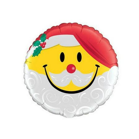Qualatex Smile Face Santa Foil Balloon - image 1 of 1