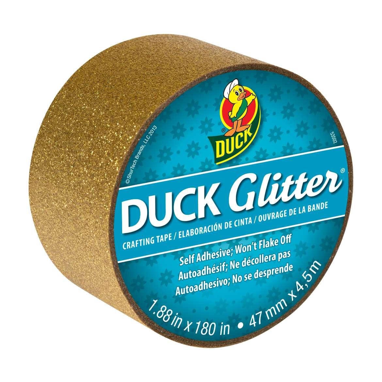 """Duck Brand Glitter Tape, 1.88"""" x 5 yds, Gold"""