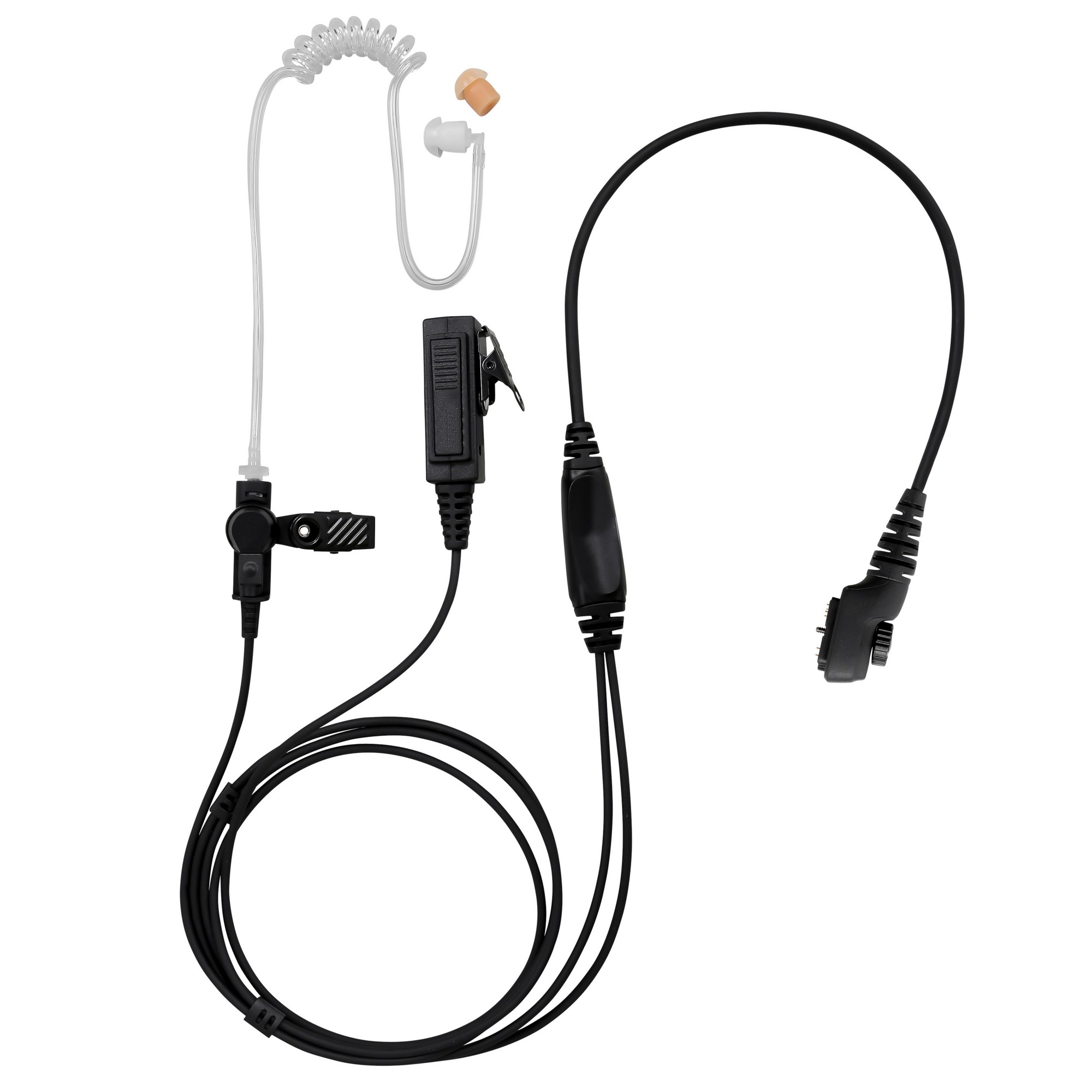 Maxtop BCT22-H5 2-Wire Clear Coil Surveillance Kit for Hytera HYT PD700 PD790Ex PT580 PT580H