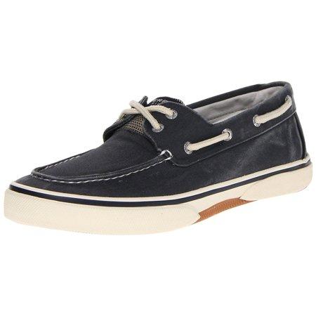 - Sperry Top-Sider Halyard 2 Eye Mens Navy/Honey Boat Shoes