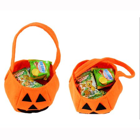 Children's Halloween Stereo Handbag Bag Portable Pumpkin Bag Candy Canvas (Portal Halloween)