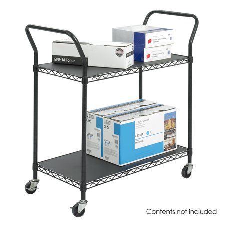 Safco 5337BL Utility Book Carts Wire Utility Cart - 2 Shelves ()