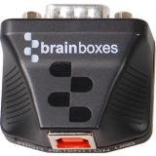 Brainboxes Ultra 1 Port Rs232 Usb To Serial Adapter - 1 X Db-9 Male Serial - 1 X Type B Male Usb (us-235)