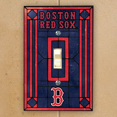 Art Glass Switch Cover (Boston Red Sox Art Glass Switch Plate Cover - No)