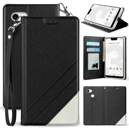 new style 35da6 25853 Google Pixel 3 XL Case, New Infolio Wallet Credit Card Slot ID Cover, View  Stand [with Wrist Strap Lanyard] for Google Pixel 3 XL (2018)