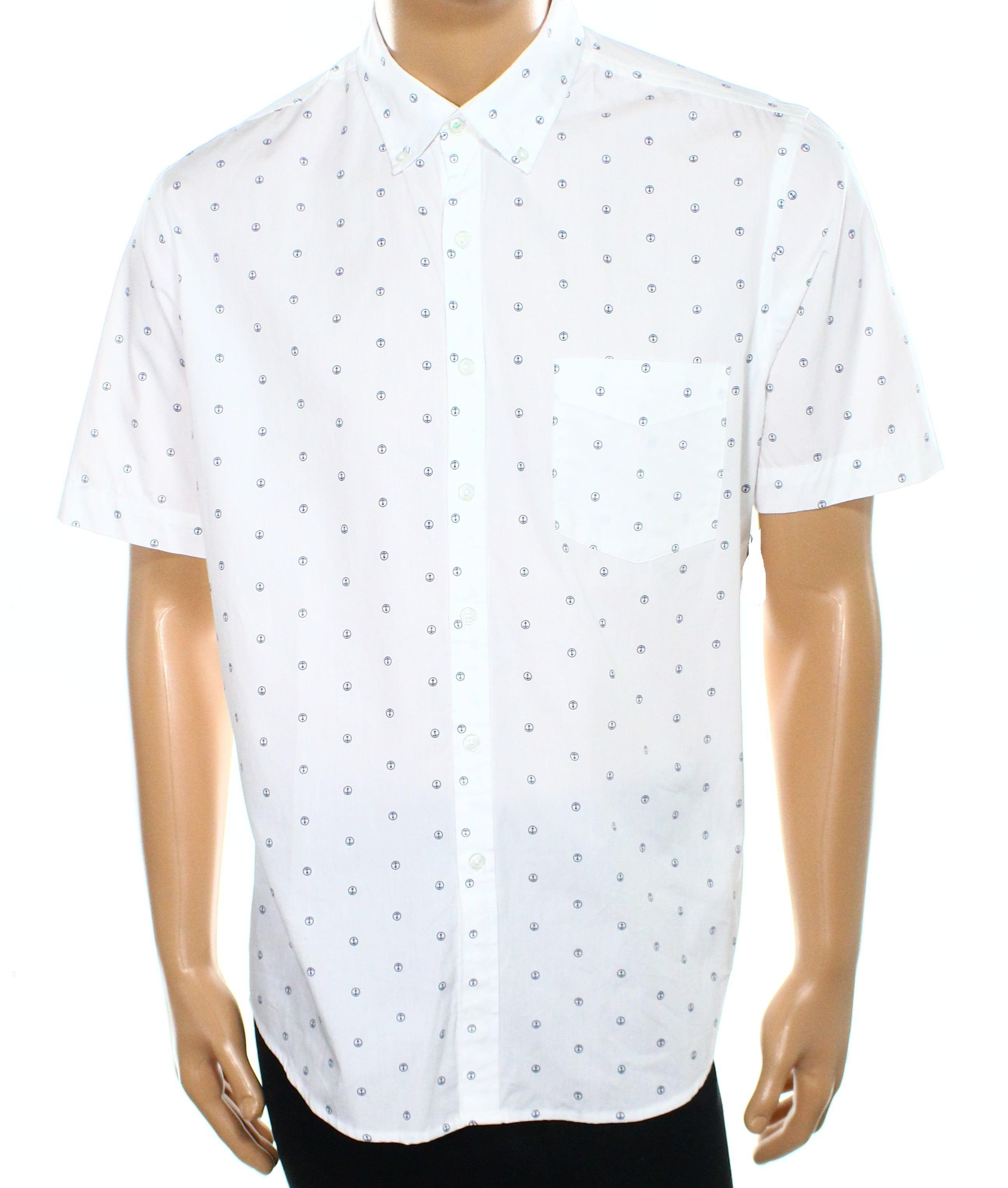 7f694c99e Anchor Print Button Down Shirt - DREAMWORKS