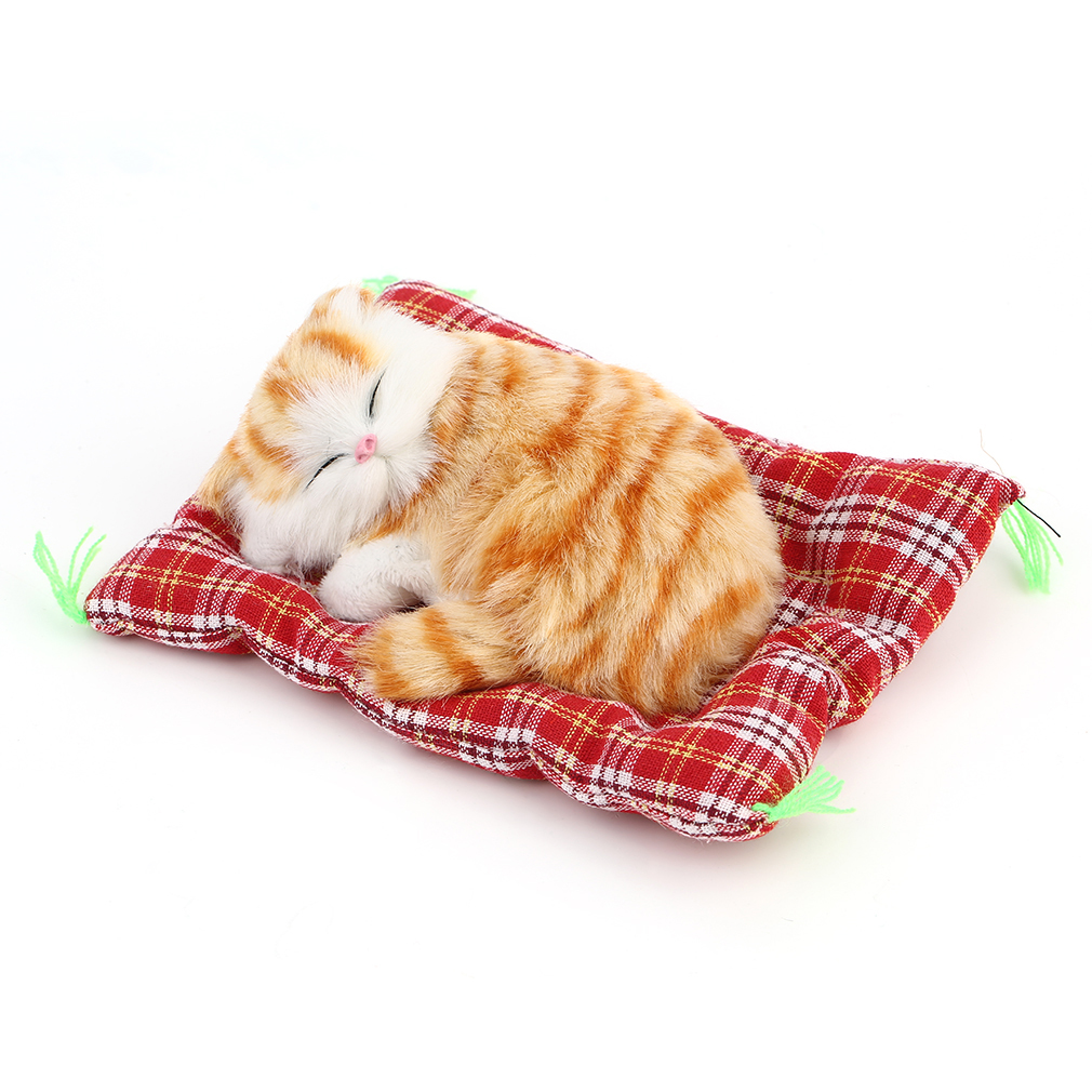 New Lovely Simulation Animal Doll Dolls Toys Gifts Plush Sleeping Cats with Sound Kids Toy Toys Gifts Cyans