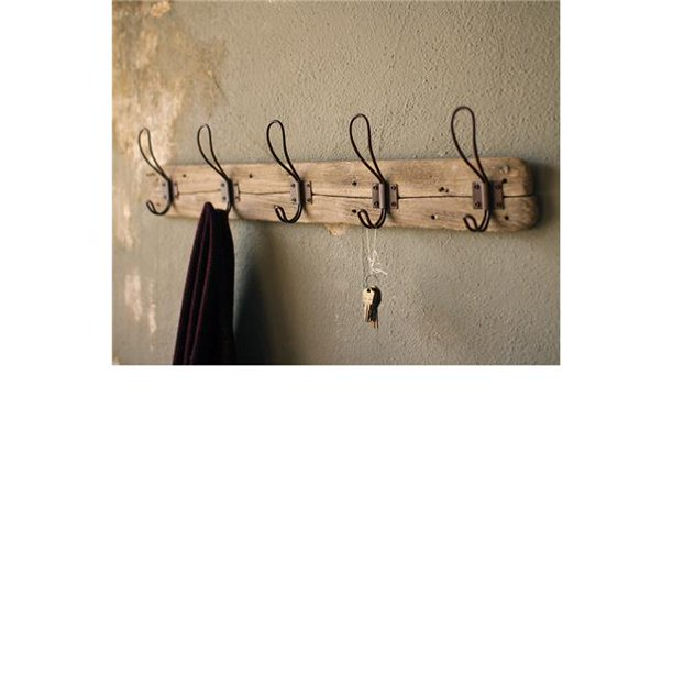 Recycled Wood Farmhouse Wall Mounted Coat Rack - Walmart.com