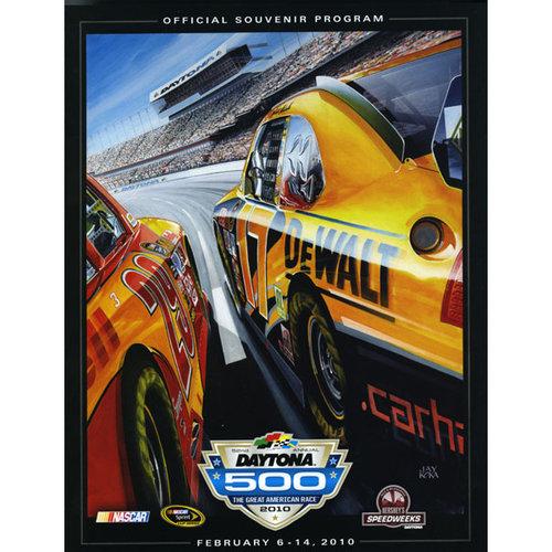 52nd Annual 2010 Daytona 500 Canvas 36 x 48 Program Print