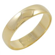 TWRZB500-5MM14Y SZ 12 5mm Mens 14K Yellow Gold Traditional Plain Wedding Band - Size 12