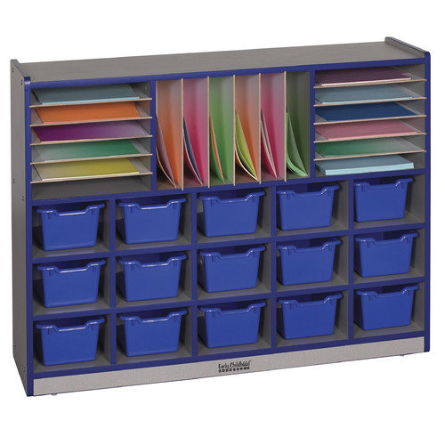 ECR4KIDS Multi Section Storage Unit with 15 Bins