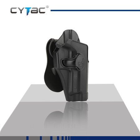 CYTAC SIG SAUER Paddle Holster with Trigger Release 360 degree Adjustable Cant, Polymer Holster Injection Molded for SIG P220 P225 P226 P228 P229 / Norinco NP22 | OWB Carry, RH | 7 attachment