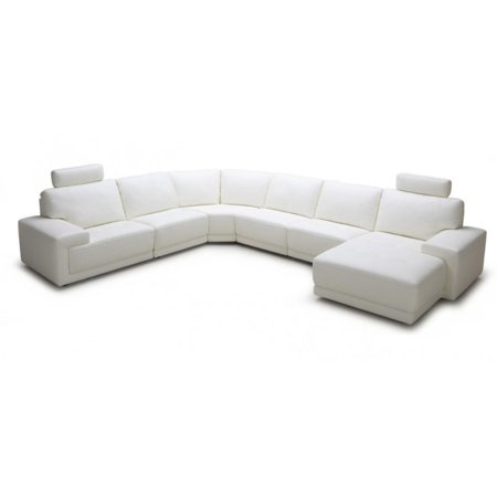 Divani Casa Cypress Modern Eco-Leather Sectional Sofa with Headrests -  Walmart.com