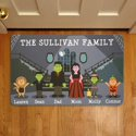 Personalized Spooky Family Doormat