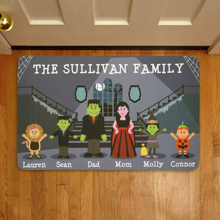 Personalized Spooky Family Halloween Doormat](F-14 Halloween)