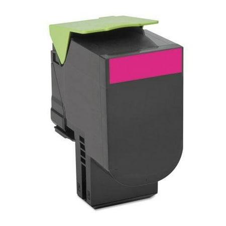 Remanufactured Lexmark 70C1HM0 toner cartridge - high capacity magenta ()