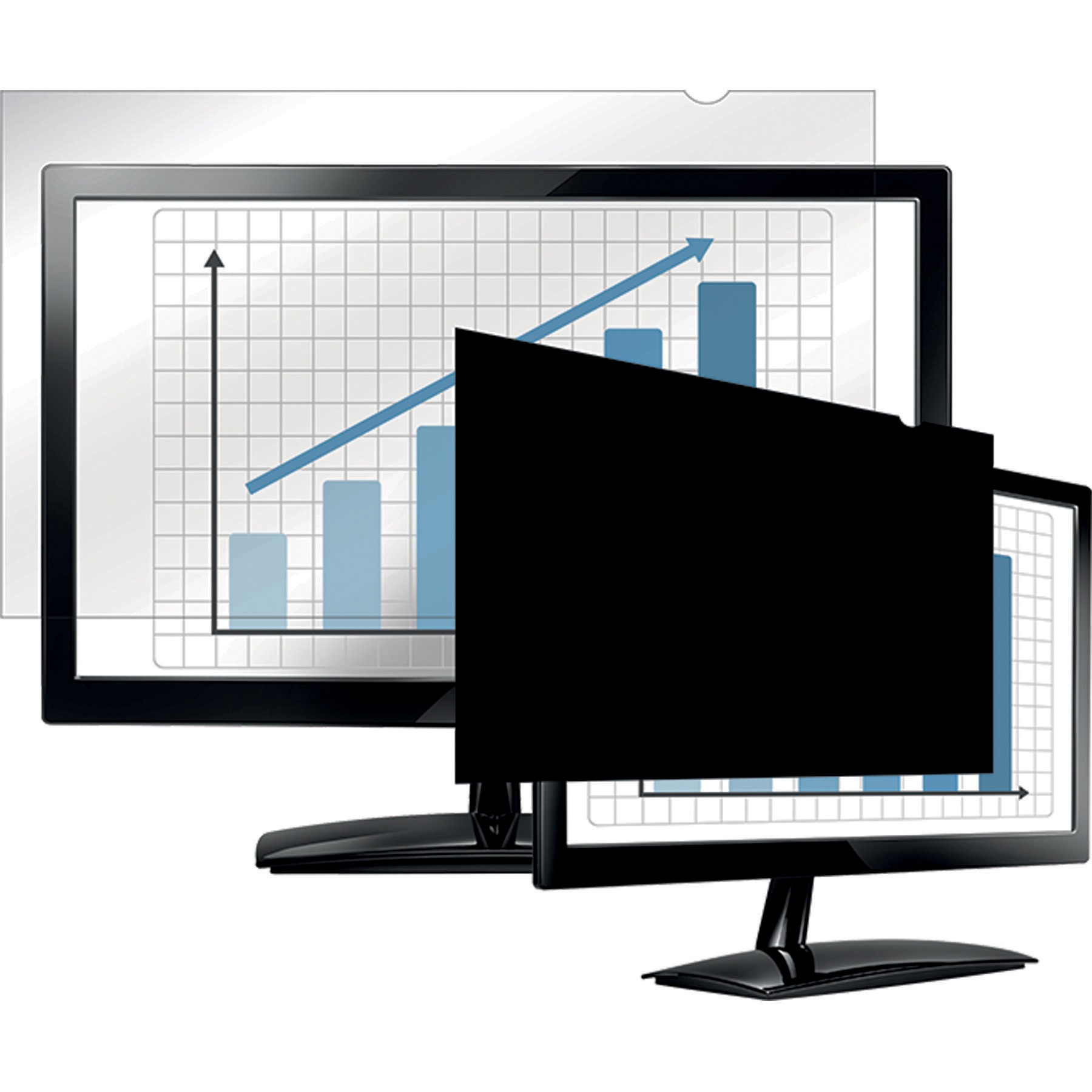 """Fellowes PrivaScreen Blackout Privacy Filter - 22.0"""" Wide"""