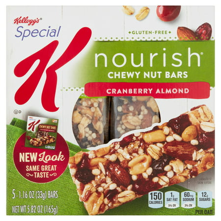 Bar Cranberry Almond (Special K Nourish Chewy Nut Bars Cranberry Almond, 1.16 oz, 5 Count )